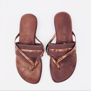 Italian Shoemakers Slip On Sandals Sz 8.5